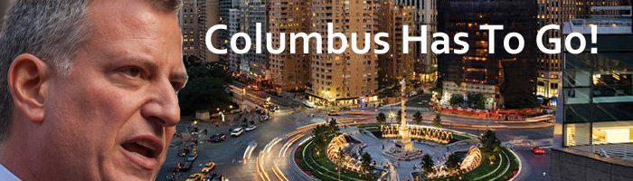 De Blasio says Columbus has to go
