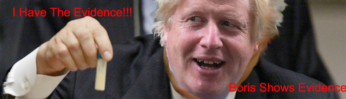 Boris Johnson shows bogus proof to world